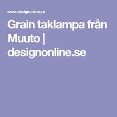Grain taklampa från Muuto | designonline.se