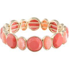 Monet Jewelry Womens Orange Stretch Bracelet (1.130 RUB) ❤ liked on Polyvore featuring jewelry, bracelets, monet jewelry, monet jewellery, stretch jewelry, orange bangles and monet bangle