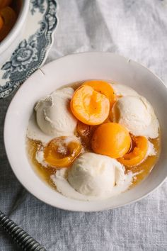 Apricots poached in