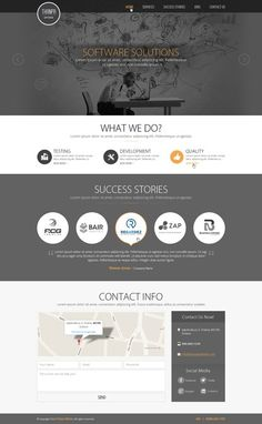 Create a presentation webpage of a software agency. by Aadi123
