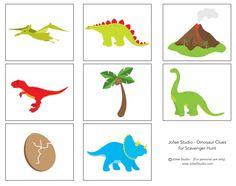 dinosaur scavenger hunt game