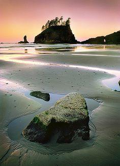 Second Beach at Sunrise, La Push Washington, Olympic National Park