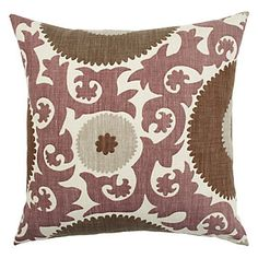 Suzani-inspired Fahri Pillow in Aubergine, $69.95
