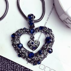 Precious Love crystal pendant Japan and South Korea South Korea in autumn and winter long section of decorative accessories wild accessories sweater chain necklace female - Taobao Taiwan, omnipotent Taobao