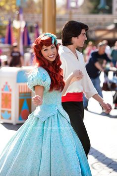 the little mermaid ariel and eric at Disneyland, she asked me the other day if the Prince's were there too