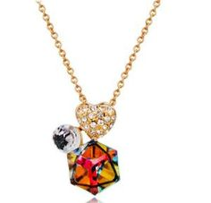 Buy Gold-plated Heart-shaped Inlaid Zircon Crystal Pendant Necklace, sale ends soon. Be inspired: enjoy affordable quality shopping at Gearbest! Hipster Background, Credit Card Wallet, Necklace Types, Chain Pendants, Plaque, Bracelets, Necklaces, Crystal Pendant, Heart Shapes