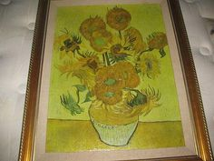Sunflowers on Gold, 1888 by Vincent van Gogh Museum Art Print 32x24