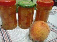 Retete cu margareta cismasiu: Dulceata de piersici Salsa, Jar, Food, Marmalade, Juices, Milkshakes, Canning, Meal, Salsa Music