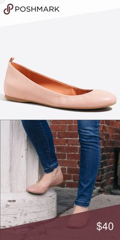 J.Crew Anya Leather Ballet Flats PRODUCT DETAILS Leather upper. Man-made sole. Warm Beige Import. Item E8091. Brand New still in plastic never opened sold out online J. Crew Shoes Flats & Loafers
