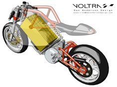 Voltra Electric Motorcycle by Dan Anderson Electric Bicycle, Electric Scooter, Electric Vehicle, Eletric Bike, Bike Sketch, Concept Motorcycles, Honda Motorcycles, Vintage Motorcycles, E Mobility