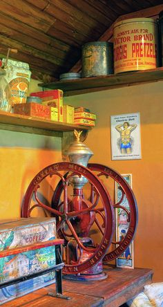 Antique Coffee Mill Photograph