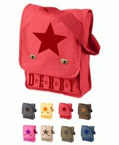 Roller Derby Star Canvas Field Bag $19.99 via Totally Rad Skatewear.