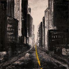 Trabajo en óleo y espátula interpretado - Sigue la línea amarilla. Work in oil and spatule interpreted - Follow the yellow line. HMZEN'15