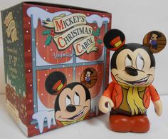 Mickey's Christmas Carol Mickey Mouse as Bob Cratchit Disney Vinylmation 3'' Figure Cute