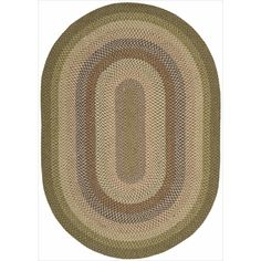 Add a comfortable ambiance and country charm to any interior with this low-maintenance, durable braided rug. Featuring rich beige, green, grey and brown color, it's are great for high traffic areas but attractive enough to make a design statement.