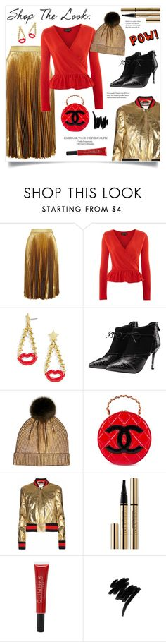 """""""Top Fashion Products!"""" by diane1234 ❤ liked on Polyvore featuring Christopher Kane, Topshop, BaubleBar, Fits, Chanel, Gucci, Guerlain, Forever 21 and Lancôme"""