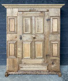 Early Oak French Wardrobe Or Cupboard - Antiques Atlas