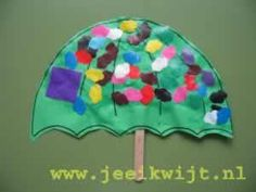 herfst knutsel paraplu