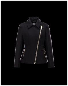 Doudoune Moncler Laun Veste Femme Noir Laine Vierge Polyamide Manteau  Moncler, Black Overcoat, Parka 13eada5360a