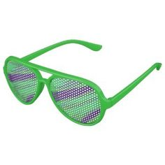 Party Glasses Eyewear Green Blue Design #zazzle #accessories #style