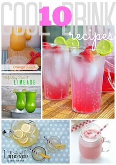 10 Cool Drink Recipes #gingersnapcrafts