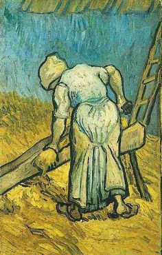 Vincent van Gogh: The Oil Paintings: Peasant Woman Cutting Straw ( after Millet). Saint-Rmy: September, 1889
