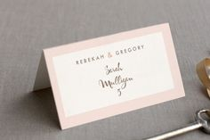Pink Blossoms Place Cards
