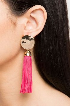 23c86d245 Rhinestone Panther Tassel Drop Earrings in 2019 | Products | Tassel ...