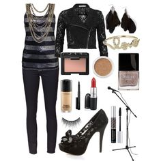 Rocker Chic Outfit, created by girlinasmalltown on Polyvore