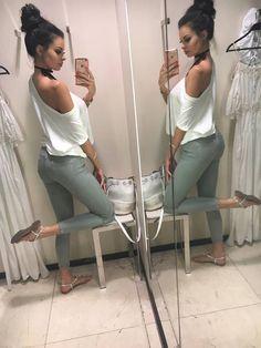 light khaki, olive jeans, knee cut jeans, distressed jeans, fashion, jeans outfit, denimbox, denimbox jeans