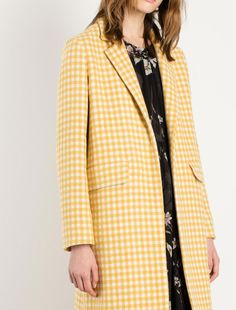 Vichy topcoat, yellow - Marella