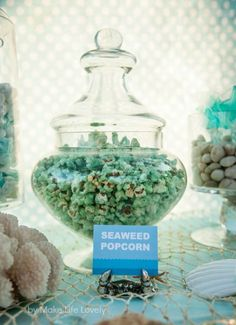 Tons of great Under the Sea Ocean Birthday Party Ideas, including yummy under sea treats! Make your mermaid party over the top with a real swim-able mermaid tail from Fin Fun Mermaid. Dolphin Birthday Parties, Birthday Party Snacks, 2nd Birthday, Birthday Ideas, Birthday Recipes, Animal Birthday, Birthday Wishes, Little Mermaid Birthday, Little Mermaid Parties