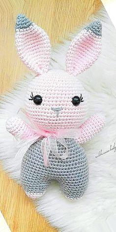 Mesmerizing Crochet an Amigurumi Rabbit Ideas. Lovely Crochet an Amigurumi Rabbit Ideas. Crochet Animal Patterns, Stuffed Animal Patterns, Crochet Patterns Amigurumi, Amigurumi Doll, Crochet Dolls, Knitting Patterns Free, Doll Patterns, Free Pattern, Crochet Hair