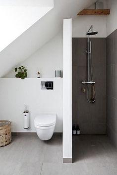 Modern Bathroom Design Ideas as well as Tips 12 Related - . ✔ Modern Bathroom Design Ideas as well as Tips 12 Related - .✔ Modern Bathroom Design Ideas as well as Tips 12 Related - . Modern Bathroom, House Design, Bathroom Decor, Attic Bathroom, Beautiful Bathrooms, Luxury Bathroom, Nordic Design, Bathroom Interior Design, Bathroom Design