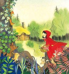 "Litlle Red Riding Hoodçizgili masallar (@cizgilimasallar) on Instagram: ""Fairy Tales for Bedtime by Nathalie Ragondet"