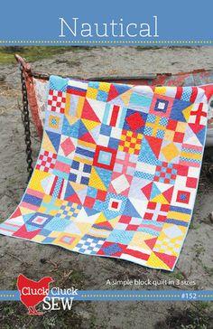 Nautical quilt pattern || Cluck Cluck Sew