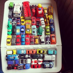 Our local in-house jam-packed parking lot #cars #dinky