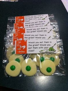 Cute idea as snack for  Dr Seuss birthday we are celebrating at school