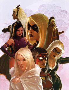Women of Marvel by Marko Djurdjevic