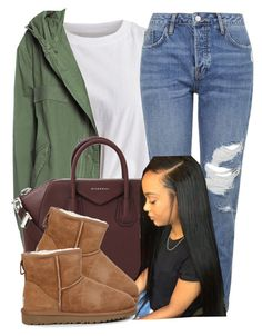 """Untitled #516"" by princess-miyah ❤ liked on Polyvore featuring VILA, Mr & Mrs Italy, Topshop, Givenchy and UGG Australia"