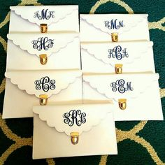 Check out this item in my Etsy shop https://www.etsy.com/listing/398862537/monogrammed-bridesmaid-scallop-envelope