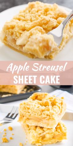 Apple Streusel Sheet Cake Apple Streusel Sheet Cake is so easy to make from scratch and makes the perfect coffee cake! A simple but so flavorful German apple crumble cake that's topped with the most delicious cookie-like streusel. Sheet Cake Recipes, Apple Cake Recipes, Easy Cookie Recipes, Easy Desserts, Apple Sheet Cake Recipe, Apple Recipes Easy, German Desserts, Sheet Cakes, Easter Recipes