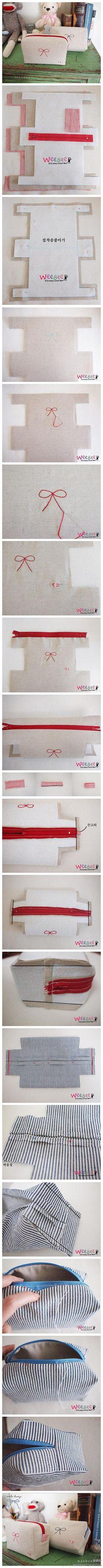 DIY cosmetic bag - Japanese