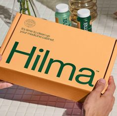 Hilma Simplifies Supplements With Natural Ingredients And Science | Dieline Spices Packaging, Medicine Packaging, Organic Packaging, Candle Packaging, Vintage Packaging, Tea Packaging, Cosmetic Packaging, Print Packaging, Tea Brands