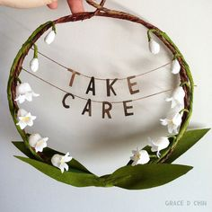 Take Care Lily of the Valley crepe paper flower by gracedchin