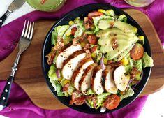 Mézes-mustáros csirkemellsaláta avokádóval Cooking Together, Zucchini, Salad Recipes, Cucumber, Bacon, Chicken Recipes, Cooking Recipes, Meals, Vegetables