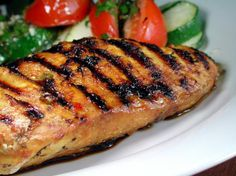 Grill chicken - split open and fill w feta n spinach for a healthy change up Thai Grilled Chicken, Grilled Chicken Recipes, Easy Chicken Recipes, Turkey Recipes, Keto Recipes, Healthy Recipes, Grill Recipes, Keto Chicken, Baked Chicken