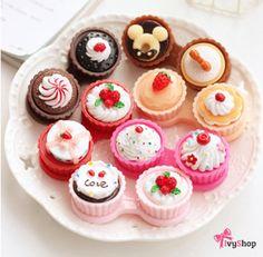 O porta lentes de contato mais fofo do mundo!   Disponível em: www.ivyshop.com.br   #portalentes #lentesdecontato #lentes #caselentes #cupcake #fofurice #fofurinhas #comprinhas #coisasfofas #criativos #cute