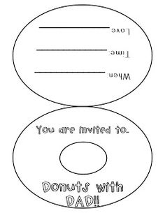Donut Printable Template Black and White Clipart Image