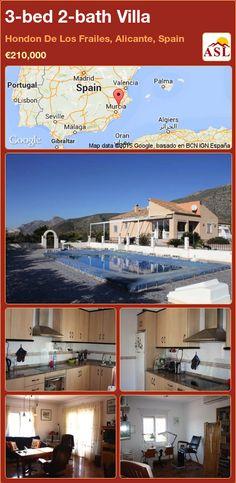 3-bed 2-bath Villa in Hondon De Los Frailes, Alicante, Spain ►€210,000 #PropertyForSaleInSpain
